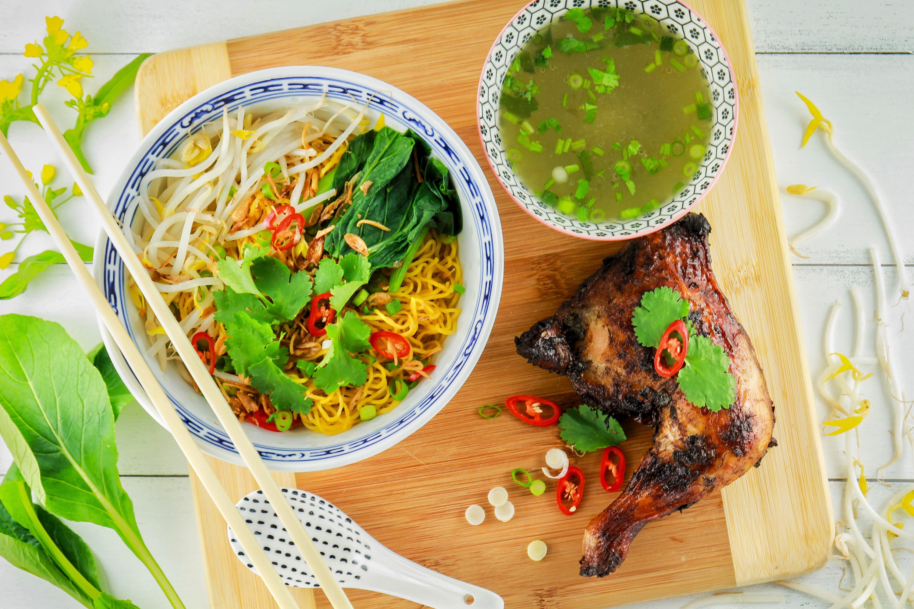 Vietnamese Noodle with Grilled Chicken